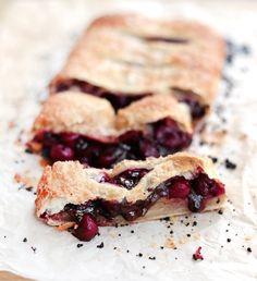 Fast Cherry Puff Pastry Chocolate Pie – Palachinka