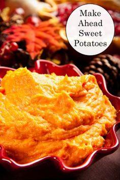 Make-Ahead Sweet Potato Recipe
