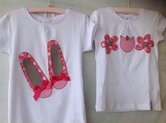 Bailarinas y flores, camisetas coordinadas de www.facebook.com/bertydot
