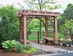 DIY Garden Arbours. Easy And Beautiful! This Garden Arbour Makes A Great  Focal Point And Supports Your Upwardly Mobile Climbers.