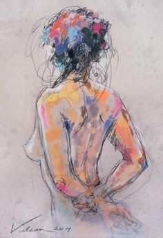 FELICIA 3 (dos) (Peinture) par Raluca Vulcan