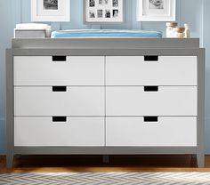 """Tatum Extra Wide Dresser & Topper Set #pbkids Dresser: 56"""" wide x 18.5"""" deep x 34"""" high Topper: 53"""" wide x 17.5"""" deep x 2.75"""" high"""