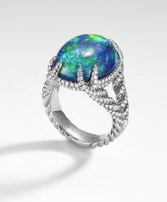 Bague David Yurman opale et diamants