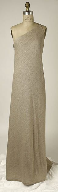 Cotton and linen dress (front), by Giorgio di Sant'Angelo, American, spring/summer 1984.