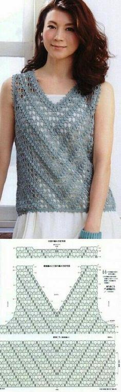 Crochet women top