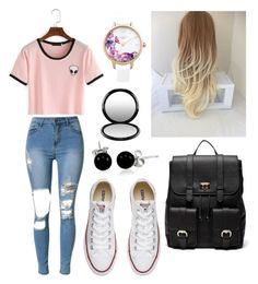"""""""School #1"""" by jennipennix ❤ liked on Polyvore featuring Converse, Sole Society, MAC Cosmetics, Bling Jewelry and Lipsy"""