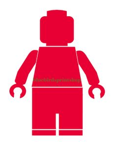 Boys Room - Lego Man - Red  Art Print 8 x 10 - Instant Download on Etsy, $3.00