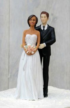 Interracial wedding cake