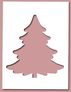 free die cut christmas tree patterns  | christmas tree pine custom die cut a classic christmas tree so fun to ...