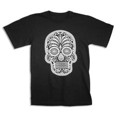 Mens  DAY of the DEAD T shirt S M L XL xxL black by happyfamily, $16.00