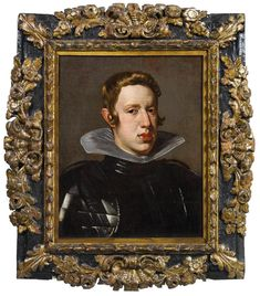 Workshop of Diego Velázquez Portrait of King Philip IV of Spain, bust length, in armour; 1624 Private European collection Dorotheum, Old Master Paintings Auction Lot No. Spanish Netherlands, Diego Velazquez, Greater Antilles, Holy Roman Empire, Baroque Art, Royal Queen, Old Master, Queen Victoria, Present Day