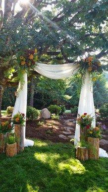 Intimate backyard outdoor wedding ideas 1
