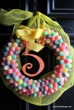 Candy Themed Birthday Party- lots of fun ideas and DIY candy decor - joyfulscribblings.com