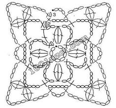 Transcendent Crochet a Solid Granny Square Ideas. Inconceivable Crochet a Solid Granny Square Ideas. Point Granny Au Crochet, Grannies Crochet, Granny Square Crochet Pattern, Crochet Diagram, Crochet Chart, Crochet Squares, Crochet Stitches, Crochet Motif Patterns, Crochet Symbols