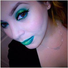 Beautiful ihearte looks like a magical mermaid princess in Sugarpill Midori and Absinthe eyeshadows and Inglot lips!