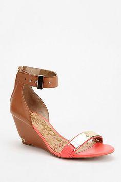 20fd52e6f5bf7 Sam Edelman Serena Metal Plate Wedge Sandal