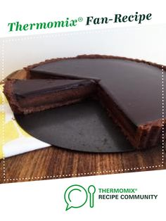 Recipe Chocolate Tart by Caroline Novinc, learn to make this recipe easily in your kitchen machine and discover other Thermomix recipes in Desserts & sweets. Thermomix Desserts, Sweet Tarts, Bellini, Sweets Recipes, Chocolate Recipes, Cocoa, Shelf, Community, Cooking