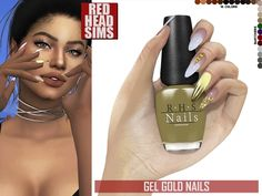 The Sims 4 GEL GOLD NAILS