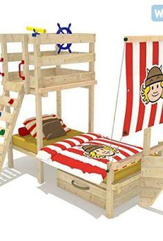 Ein schönes Piratenbett in Rot.