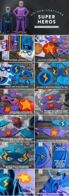 Superhero costumes free pattern