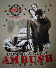 Bonnie and Clyde Ambush Museum ~ Gibsland, Louisiana Bonnie Clyde, Louisiana, Crime, Museum, Branding, Places, Illustration, Brand Management, Illustrations