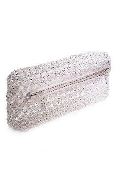 Handbag with Swarovski® Crystal Beads and Zipper