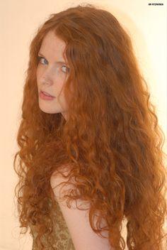 redhead long red hair