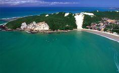 A praia de Ponta Negra, em Natal, Brasil