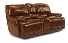 Latitudes - Belmont Power Glide Reclining Love Seat with Console by Flexsteel