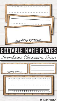 Free Classroom Decor, Freebie Name Plates farmhouse classroom decor – rustic classroom decor for kindergarten, elementary and middle classroom includes 23 sets of classroom decor labels in English that you can add to your vintage classroom. New Classroom, Classroom Design, Preschool Classroom, Classroom Themes, Classroom Organization, Vintage Classroom Decor, Classroom Labels Free, Vintage Decor, Diy Classroom Decorations