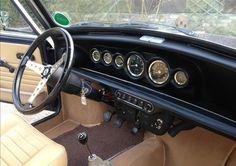 Classic mini interior Black and brown