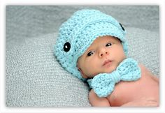 Future son...you will be wearing this home!!! This is so frikkin adorable...Crochet Baby Bow Tie