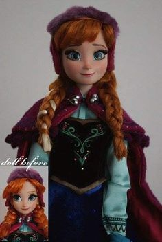 Precise Disney Frozen Anna Doll With Free Elsa Fragrant Aroma Dolls