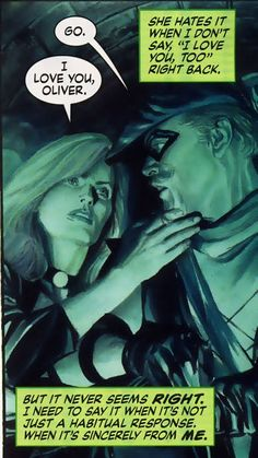 Green Arrow and Black Canary in Justice #10 by Mark Waid and Alex Ross - one of my fave superhero couples