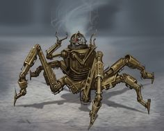 The dwarven automaton's from skyrim (and the dwelmer technology in general) have distinct steampunk influences.