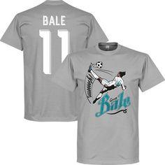 Bale 11 Bicycle Kick T-Shirt - Grijs - XL Real Madrid Crest, Champions League Finale, Bale 11, Bicycle Kick, Gareth Bale, T Shirts, Kicks, Mens Tops, Xl