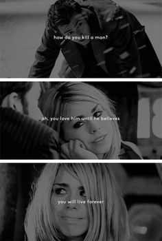 The Doctor + Rose Tyler: how do you kill a man? ah, you love him until he believes you will live forever. #doctorwho