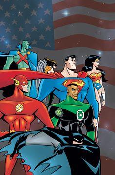 Awkward Justice League Family Photo: Gosh Darn it Batman Bruce Timm, Comic Books Art, Comic Art, Book Art, Dc Animated Series, Assassin, Justice League Animated, Hq Dc, Im Batman