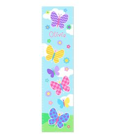 Take a look at the Butterfly Garden Personalized Growth Chart Wall Decal on #zulily today!