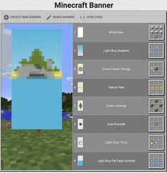 Minecraft Wall Designs, Minecraft Banner Patterns, Minecraft Interior Design, Minecraft Banners, Cute Minecraft Houses, Minecraft Architecture, Cool Minecraft, Minecraft Houses Survival, Minecraft Tips
