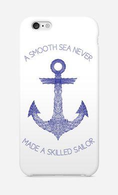 Case iPhone Smooth Sea par Fimbis - Wooop.fr  #fimbis #Wooop #anchor #ancre #blue #style #styleblog #fashion #fashionblogger #fashionblog #styleblogger #iphone6 #designer #coques #nautique #marin #bleu #mode #blogdemode #flots #fblogger #citation #quote #festive #sailor #LaModeFrançaise #francais #geometrique