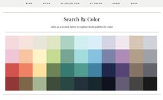 search Design Seeds by color via @designseeds