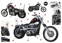Bolt-On parts for that old school look! Customize your MOTORCYCLE with our ultimate parts. No other bike can as beautiful as yours.See the dreams in your motorcycle. Indian Motorcycles, Triumph Motorcycles, Custom Motorcycles, Sportster Chopper, Hd Sportster, Harley Davidson Chopper, Harley Davidson Sportster, Mv Agusta, Ducati