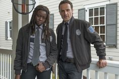 Still of Andrew Lincoln and Danai Gurira in The Walking Dead (2010)