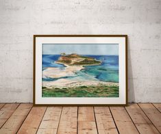 ORIGINAL unique watercolor painting in turquoise, Realistic lagoon painting, Heaven on Earth, Housewarming gift for summer lovers, Seascape Turquoise Home Decor, Blue Home Decor, Gifts For Art Lovers, Lovers Art, Original Artwork, Original Paintings, Gift Of Time, Heaven On Earth