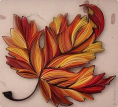 Yulia Brodskaya - Quilled Leaf - as only Yulia can do! - as shown by: ‪ Alysiane France ‬LE QUILLING FRANCAIS on FB Yulia Brodskaya, Quilling Designs, Quilling Patterns, Quilled Paper Art, Quilling Paper Craft, Paper Crafts, Fall Tattoo, Lion Mane, Artwork