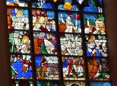 Stained Glass Detail, Church of Joan of Arc