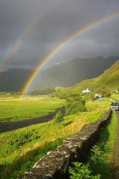 Double Rainbow in The Highlands, Scotland