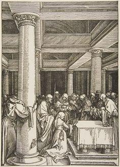 Albrecht Dürer   German (1471 - 1528)   Presentation in the Temple  Series: Life of the Virgin