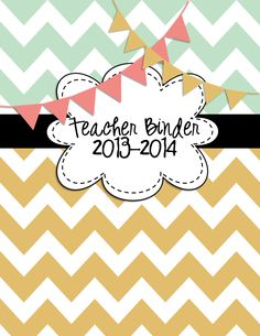 I love my Teachers Binder... it is my forever friend! I have gone from searching my desk, filing cabinets, and home to having my dear friend with me all the time. I love how cheerful the minty green, warm yellows, and bunting on this Teacher Binder is. $4